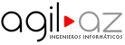 Logotipo tipográfico de la empresa agil AZ